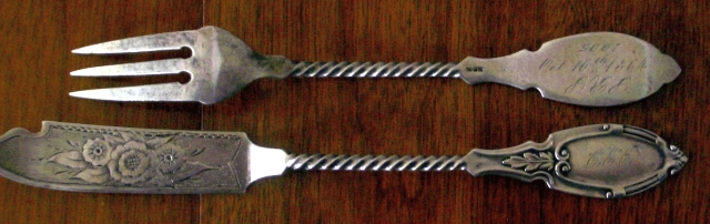Catherine's butterknife and pickle fork