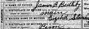 Alexander Boothby's death certificate