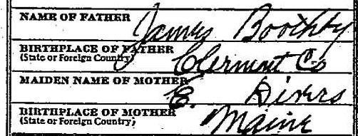 Mary Jane B. Fiscus death certificate