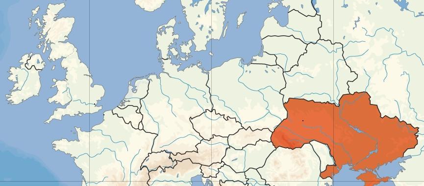 Map showing Ukraine