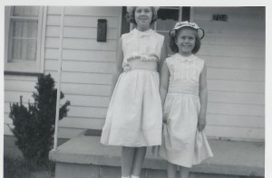 Margaret and Pat, maybe 1956