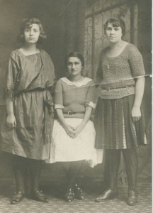 Sylvia, Sarah, and Tillie, 1922